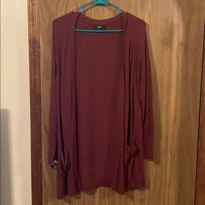 Mossimo Supply Co. Sweaters - Long maroon cardigan